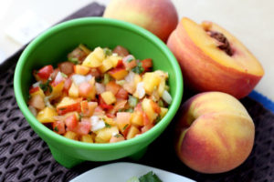 Grilled Peach Pico de Gallo