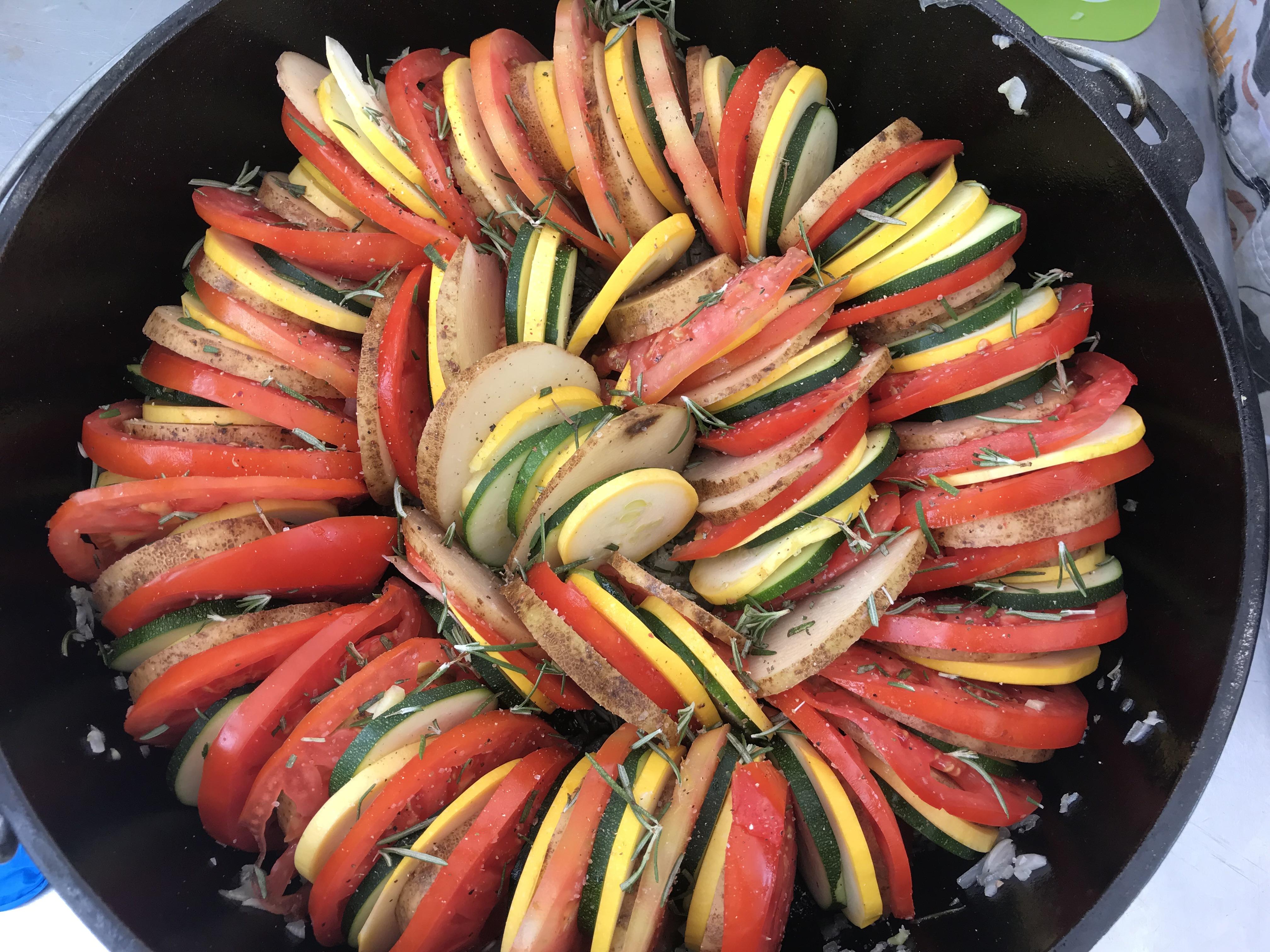 Veggie Casserole in Dutch Oven