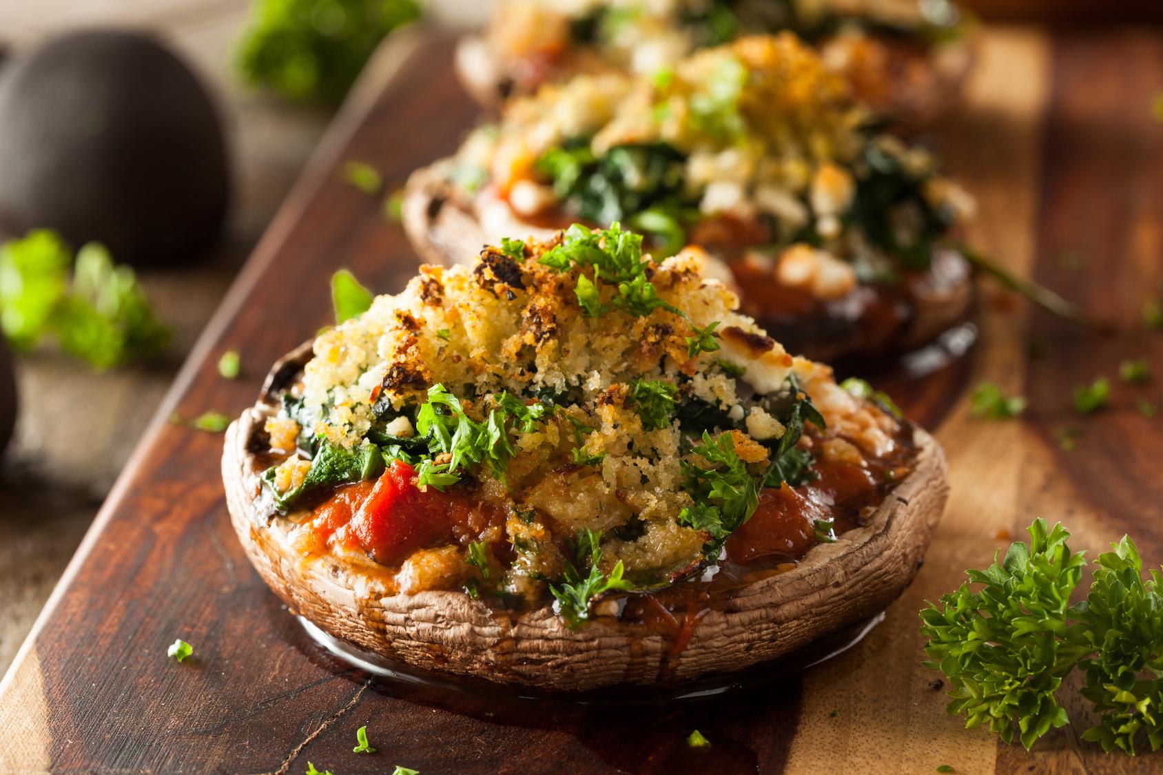 Apple & Sage Stuffed Portobello Mushrooms